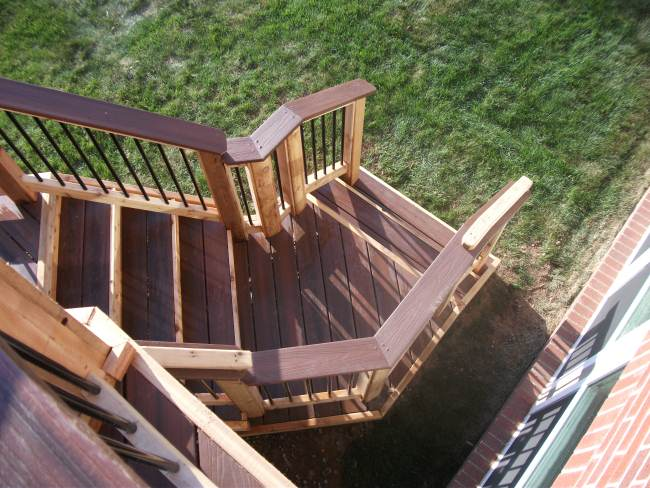 Ideas For Winding Stair Landing Decks Amp Fencing Contractor Talk