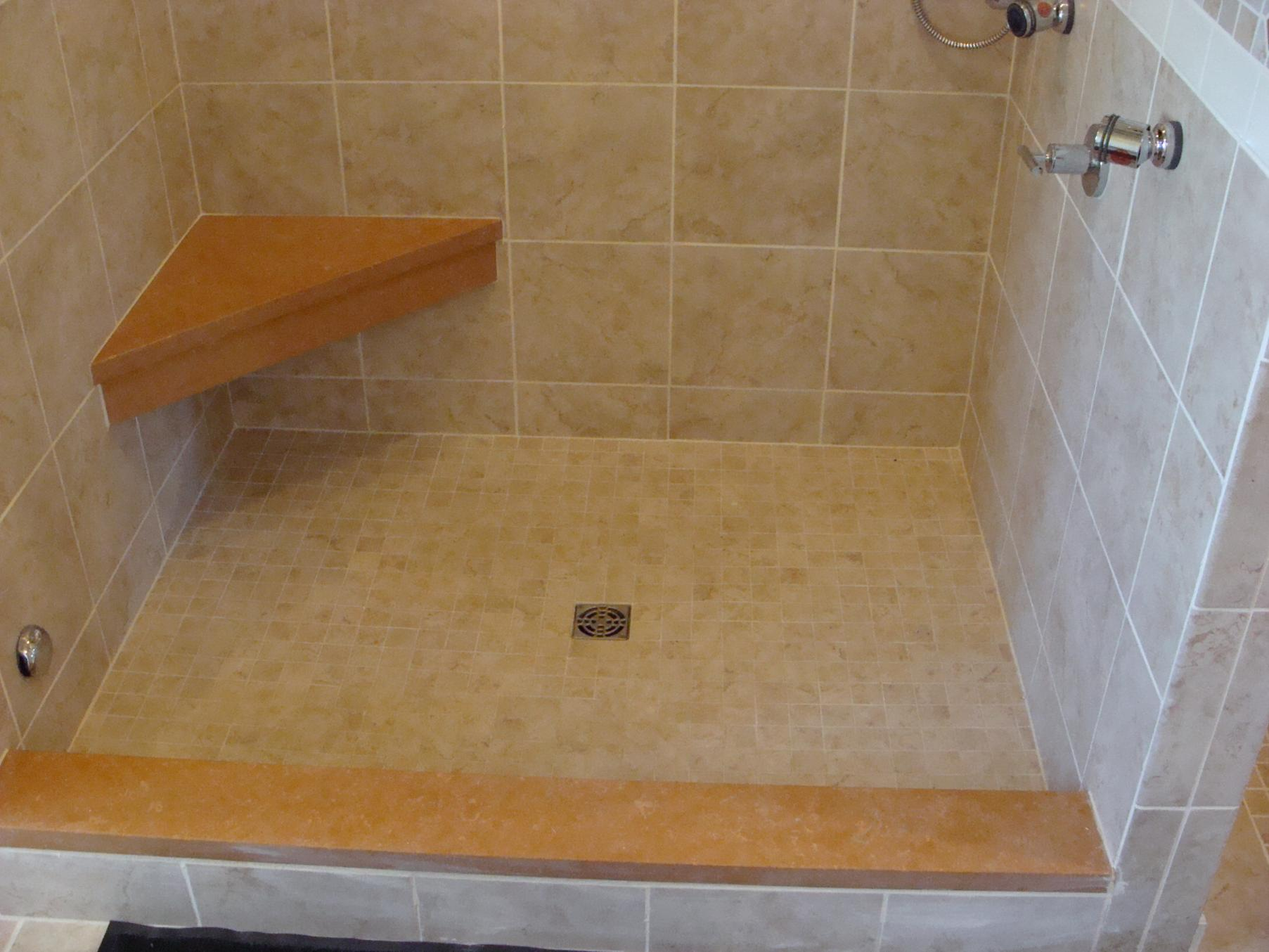 shower with seat design. Pre Formed Corner Seats Tiling Contractor Talk How To Build A Bench Seat In Shower  Designs