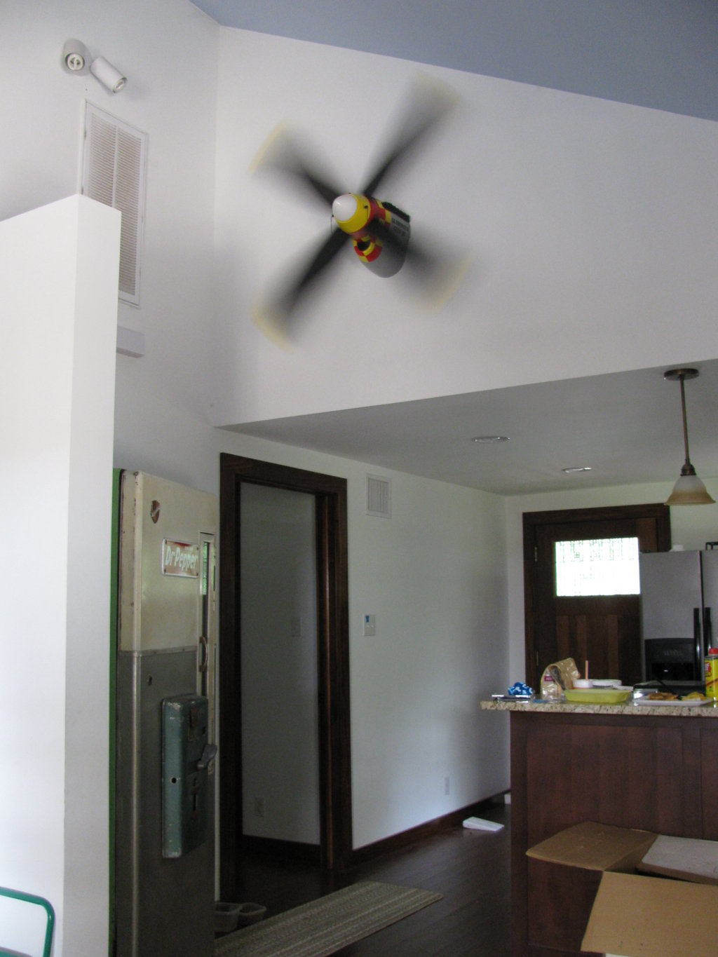 Installing A Hunter Ceiling Fan On A Concrete Ceiling