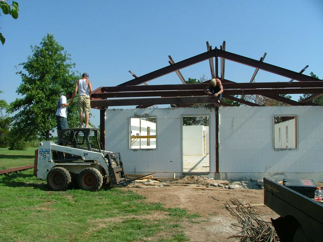 Steel icf home ponca city oklahoma construction Building a house in oklahoma
