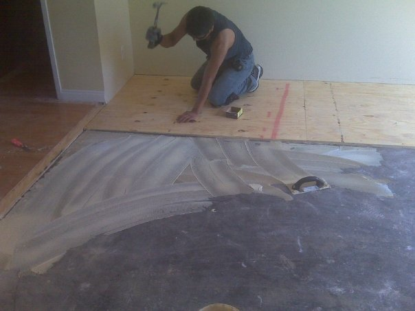 Nailing Plywood To Concrete Floor