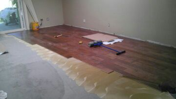 Flooring Glue-down Transition To Floating - Flooring - Contractor Talk