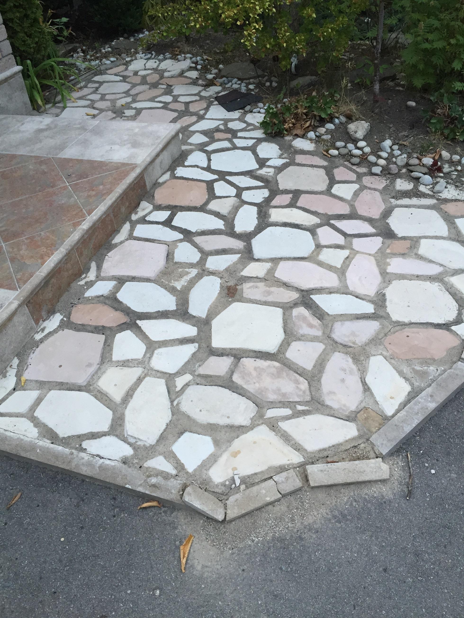 Repairing Loosen Patio Flagstones Polymeric Sand VS Envirobond Sand VS Mort