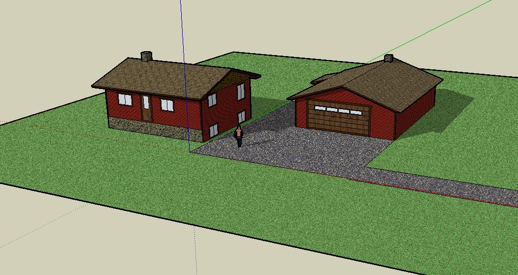 need help with designsketchup aa carpentry housejpg - Sketchup Home Design