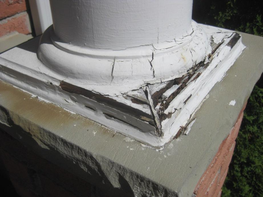 Repairing Base Plates Of Porch Column Carpentry