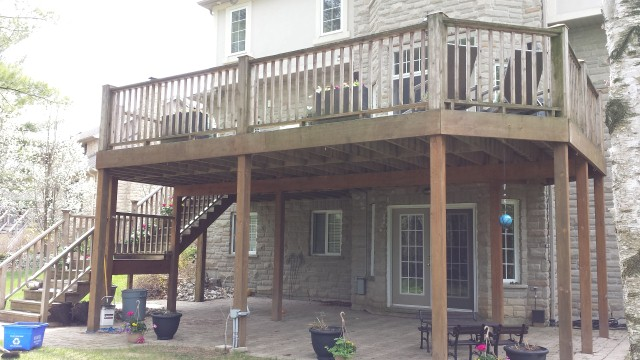 Deck Free Standing On Cantilever Wall Decks Amp Fencing