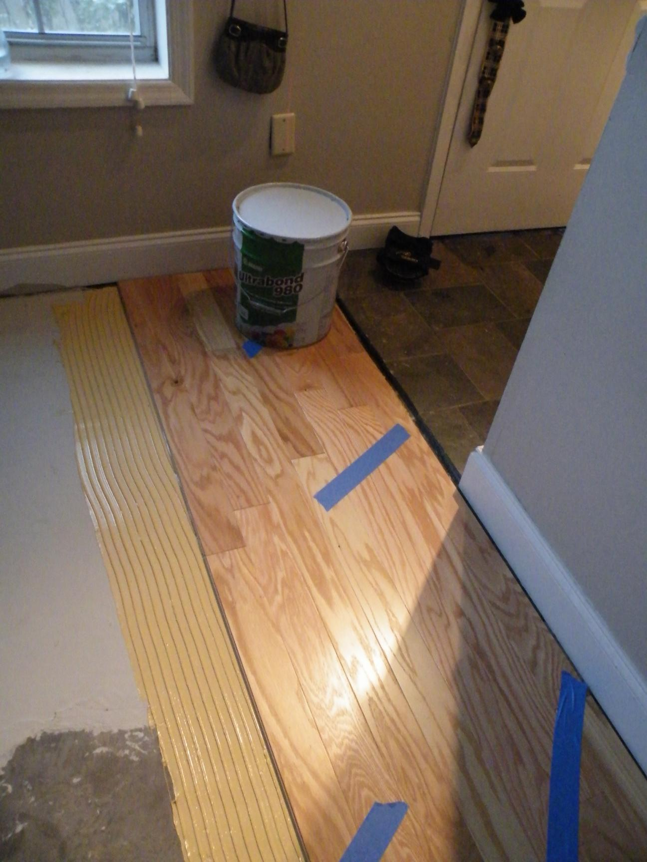 Tiling unlevel floor