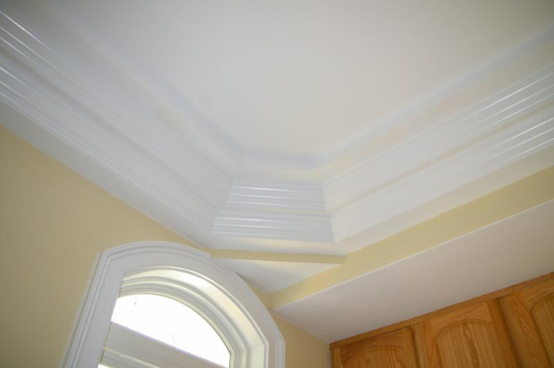 Need help on crown molding on trey ceiling finish for Types of ceiling designs