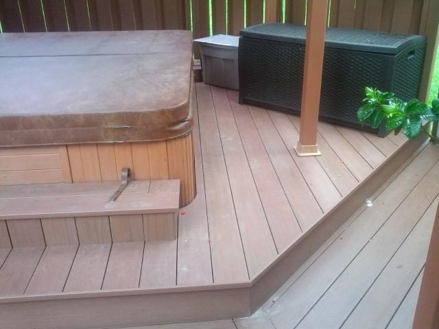 Routing Trex Decking? Azek Redland Rose Deck 1 ...