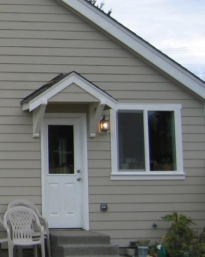 Roof above front door