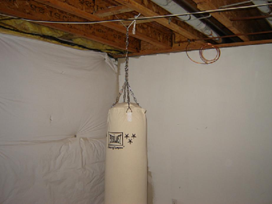 Hanging A 100 Lbs Punching Bag From I Joists Pics Inside