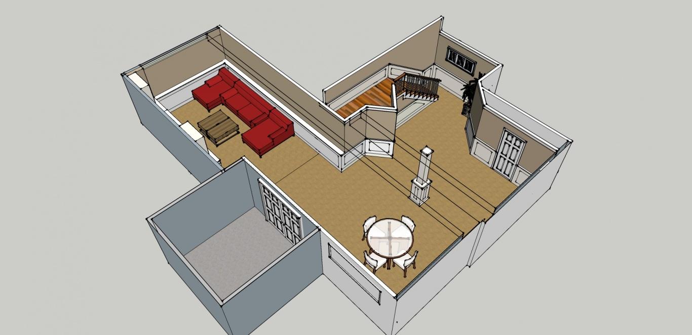 Bonito El Diseño De Muebles De Cocina Con Sketchup Bandera - Ideas ...