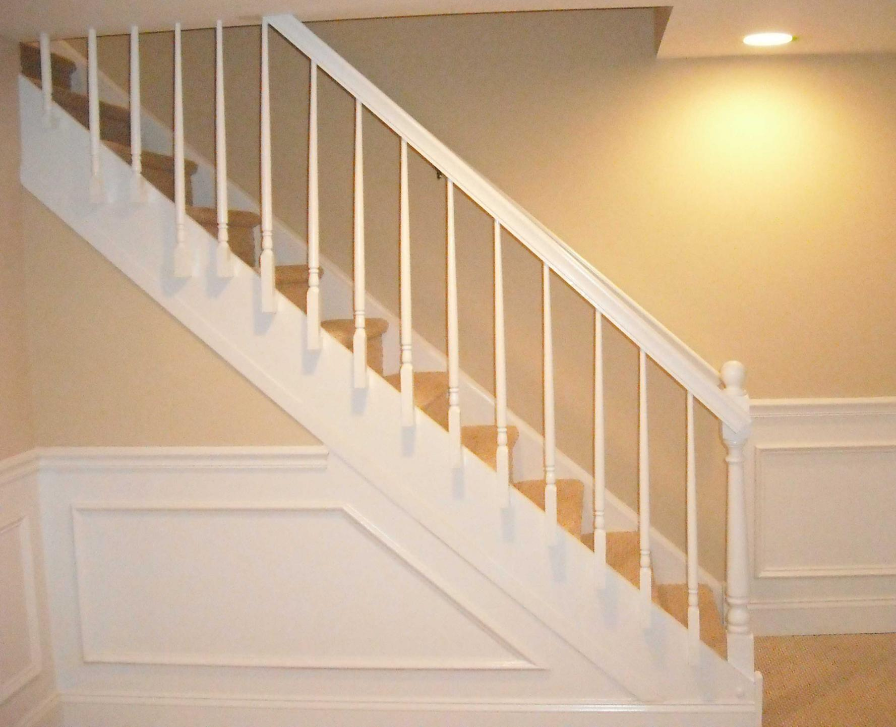 High End Stair Rail Carpentry Picture Post