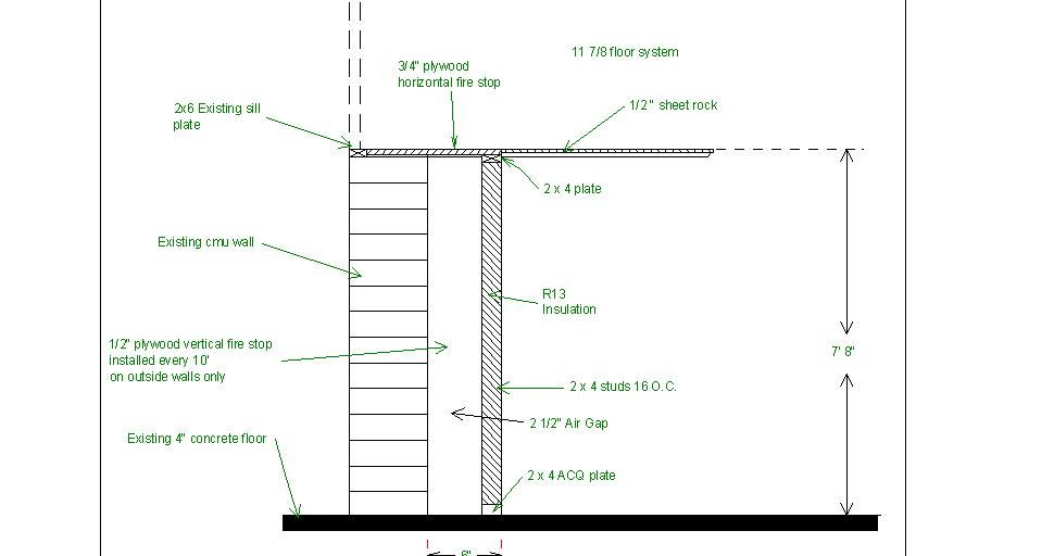 Basement Wall Framing framing basement ceiling - framing - contractor talk