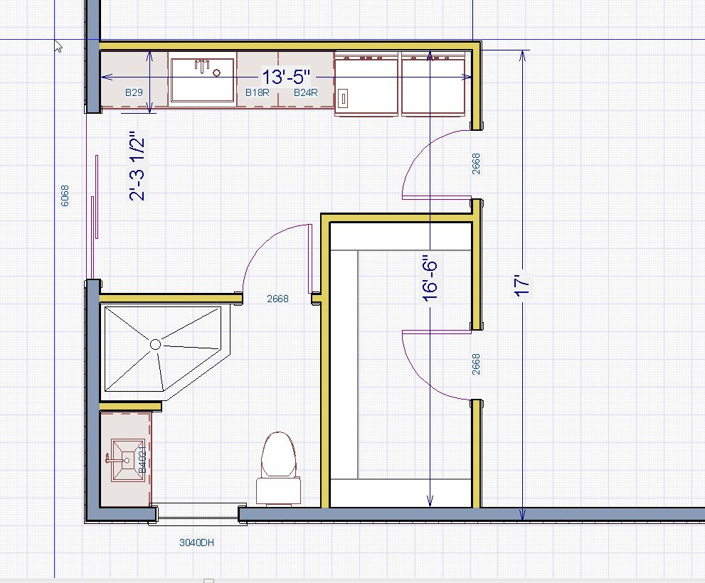 Does anyone have any ideas for this Master bath layout?  I'm stumped...-bathroom.jpg