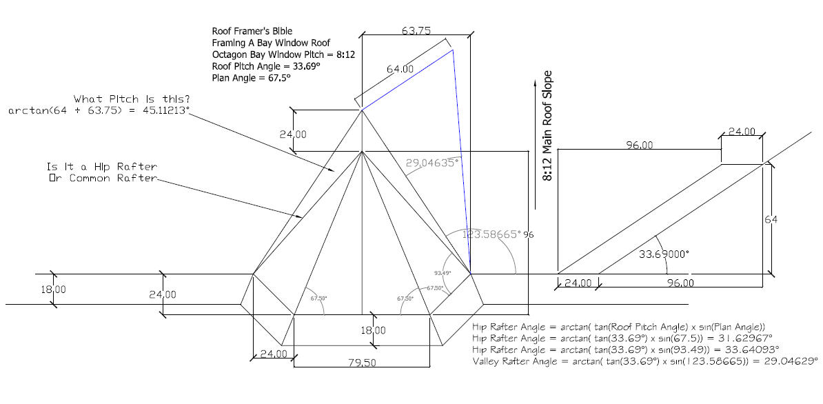 Bay window drawings for Bay window plan detail