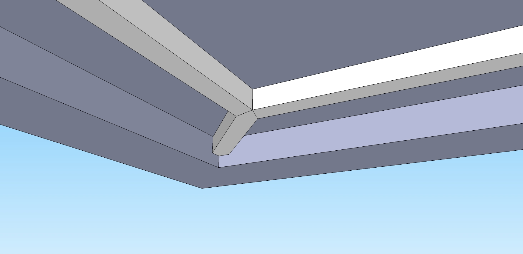 How Would You Make This Box Beam Connection In Tray Ceiling