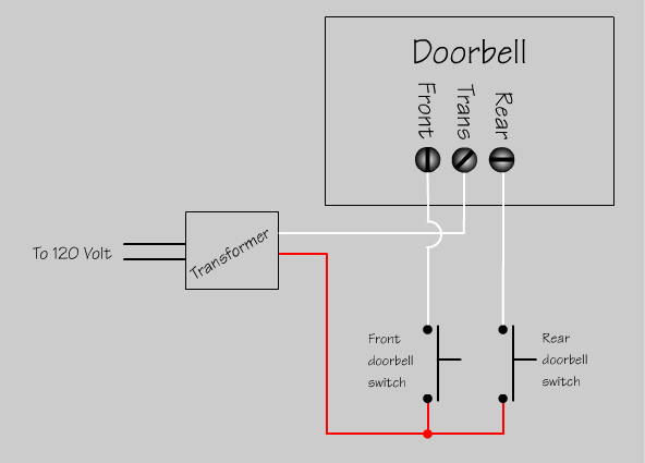 how to wire up doorbell chime