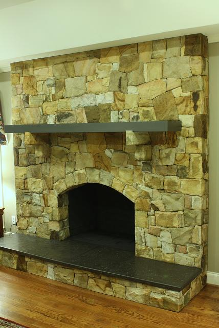 Stone Fireplace Facelift..before And After - Masonry ...