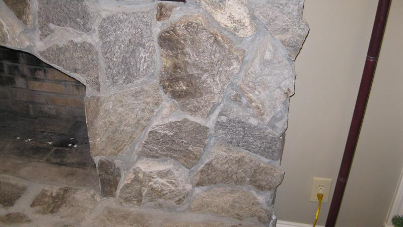 Marble Mortar Mix : Stone fireplace facelift before and after masonry