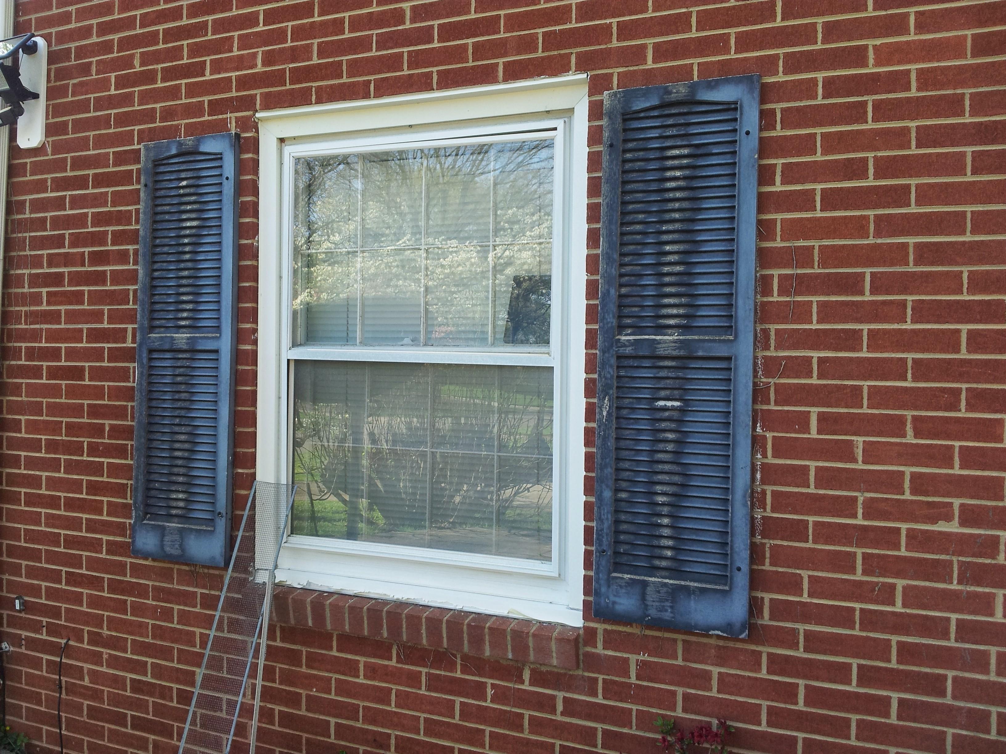 painting black plastic shutters painting finish work
