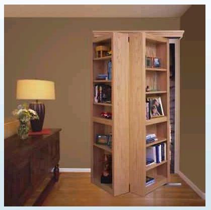 bookcase plans sliding doors