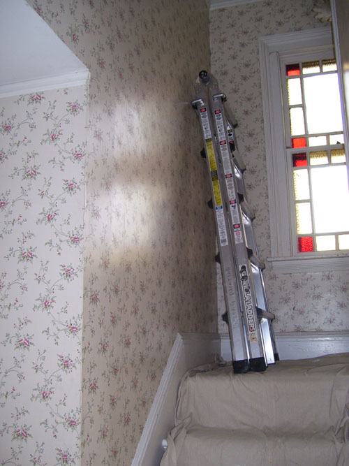 stripping wallpaper. Price of removing wallpaper.