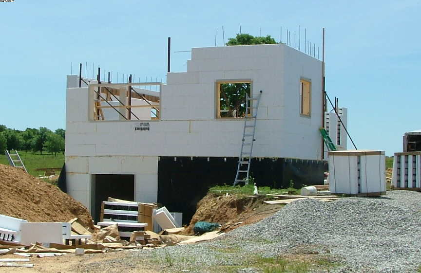 Icf Custom Home Bristow Oklahoma Construction Picture