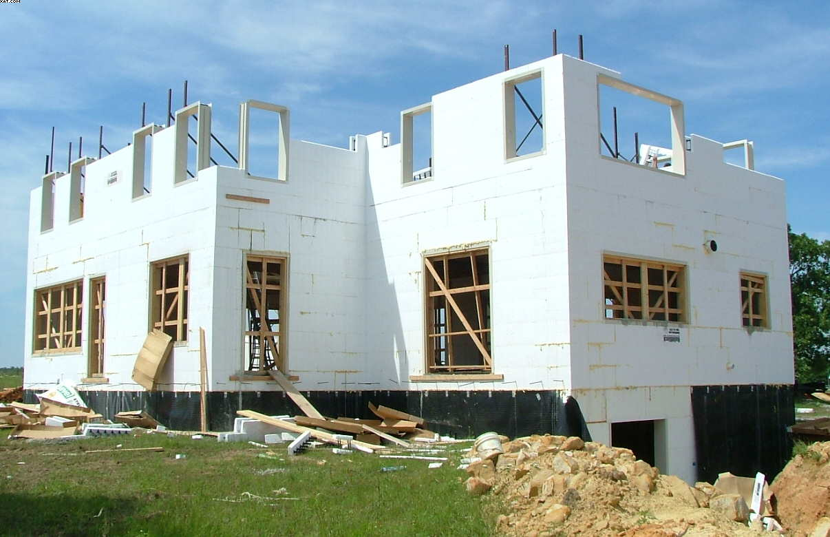 Icf custom home bristow oklahoma construction picture for Building a house in oklahoma