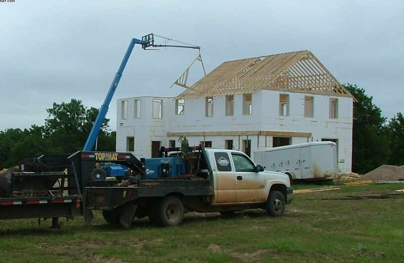 Icf custom home bristow oklahoma construction picture for Icf residential construction