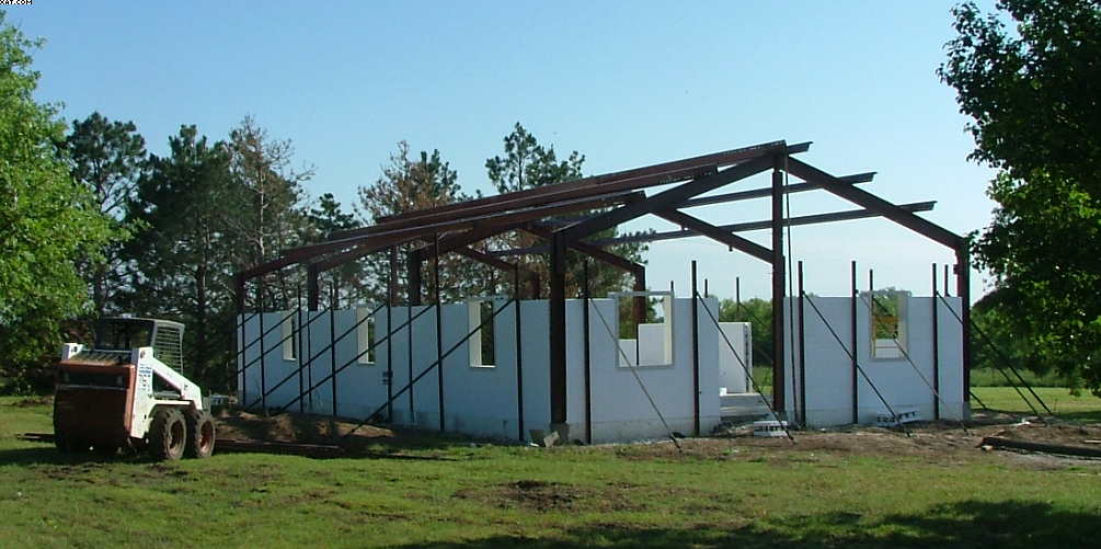 Steel Icf Home Ponca City Oklahoma Construction