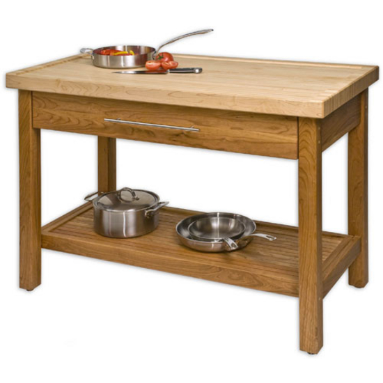 old time stand alone butcher block carpentry