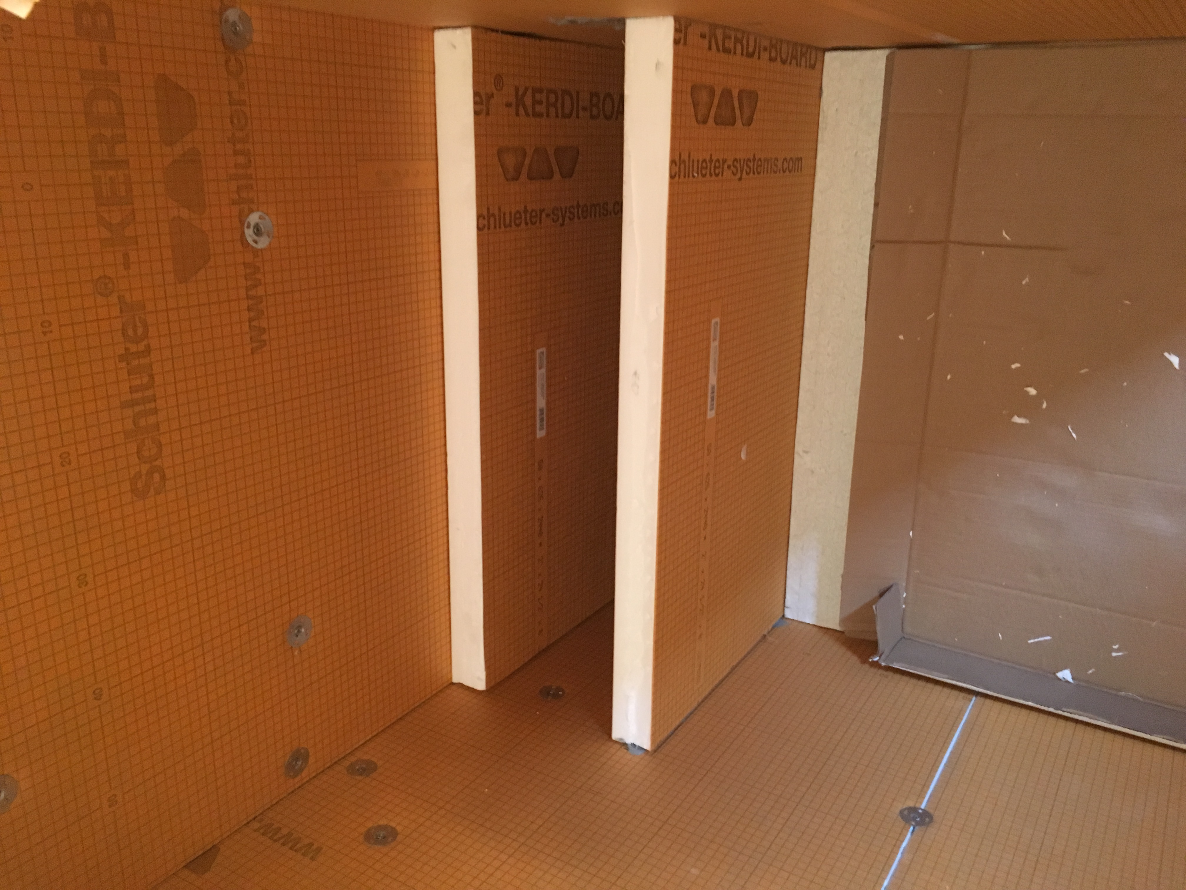 board back you and installing need where screw kerdi the grab it pull to niche a up img shower