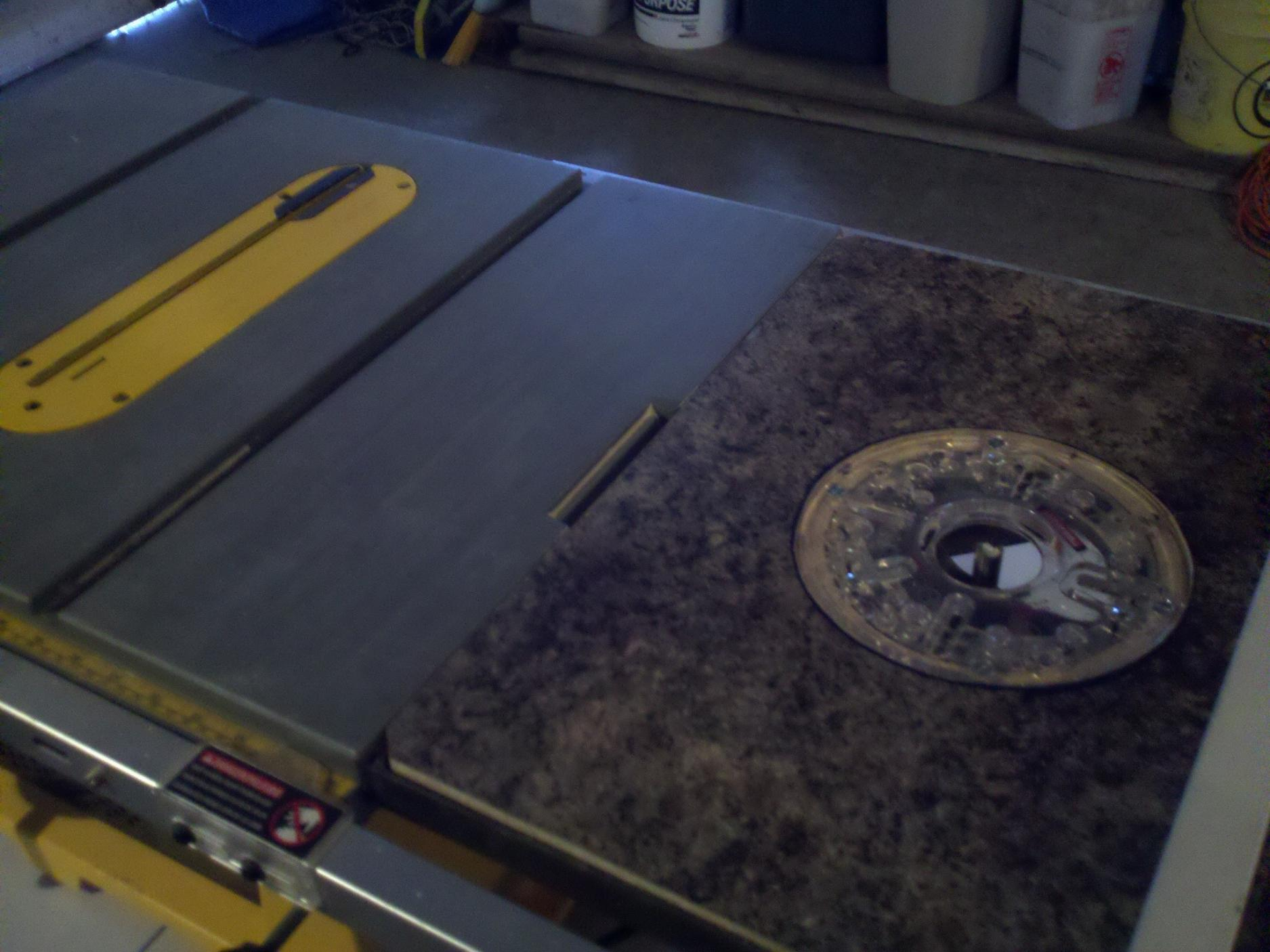 Dewalt Extension Table Router Router Table Extension on