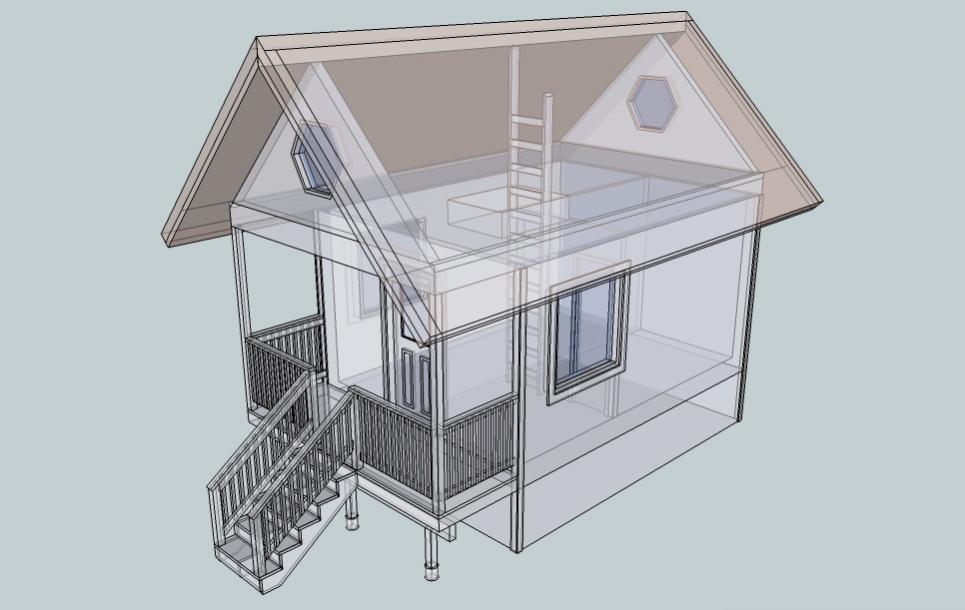 Cabin floor plans with loft joy studio design gallery for Remote cabin plans