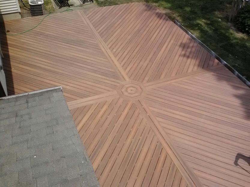 Diagonal deck boards decks fencing contractor talk for Hardwood decking boards
