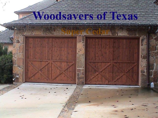 Elegant Cedar Garage Doors