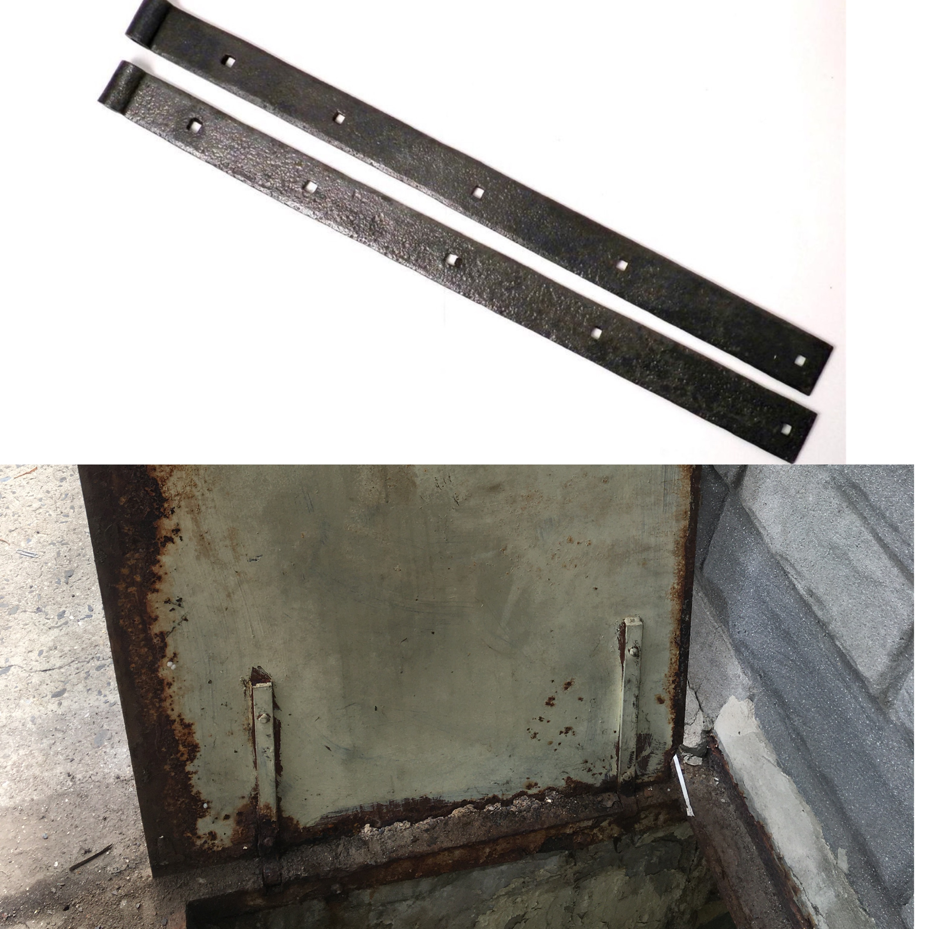 What kind of hinge can I use to remake this metal basement floor door?-ceca4dcb-e048-4371-8ba5-ee28e86699fe_1597119259251.jpeg
