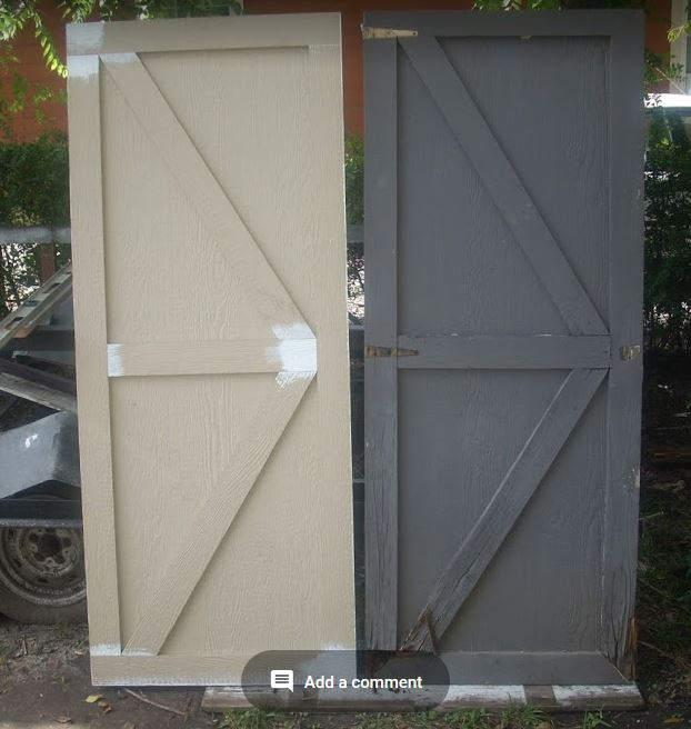 Making A Shed Door From Hardi Board Chip Doors