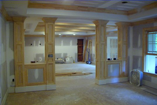 ... Finishing Basement Support Columns Pics would be great-columnconstafter5.jpg : basement post cover ideas  - Aeropaca.Org
