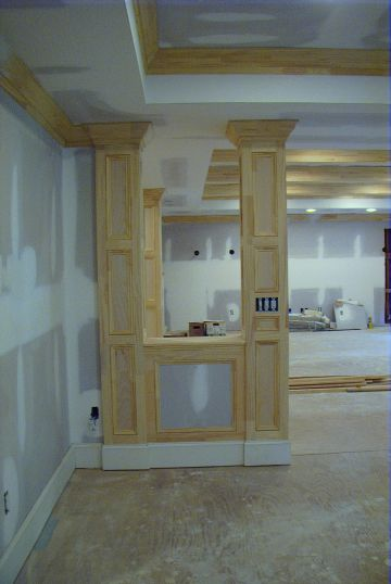 basement support columns how to cover basement poles support post