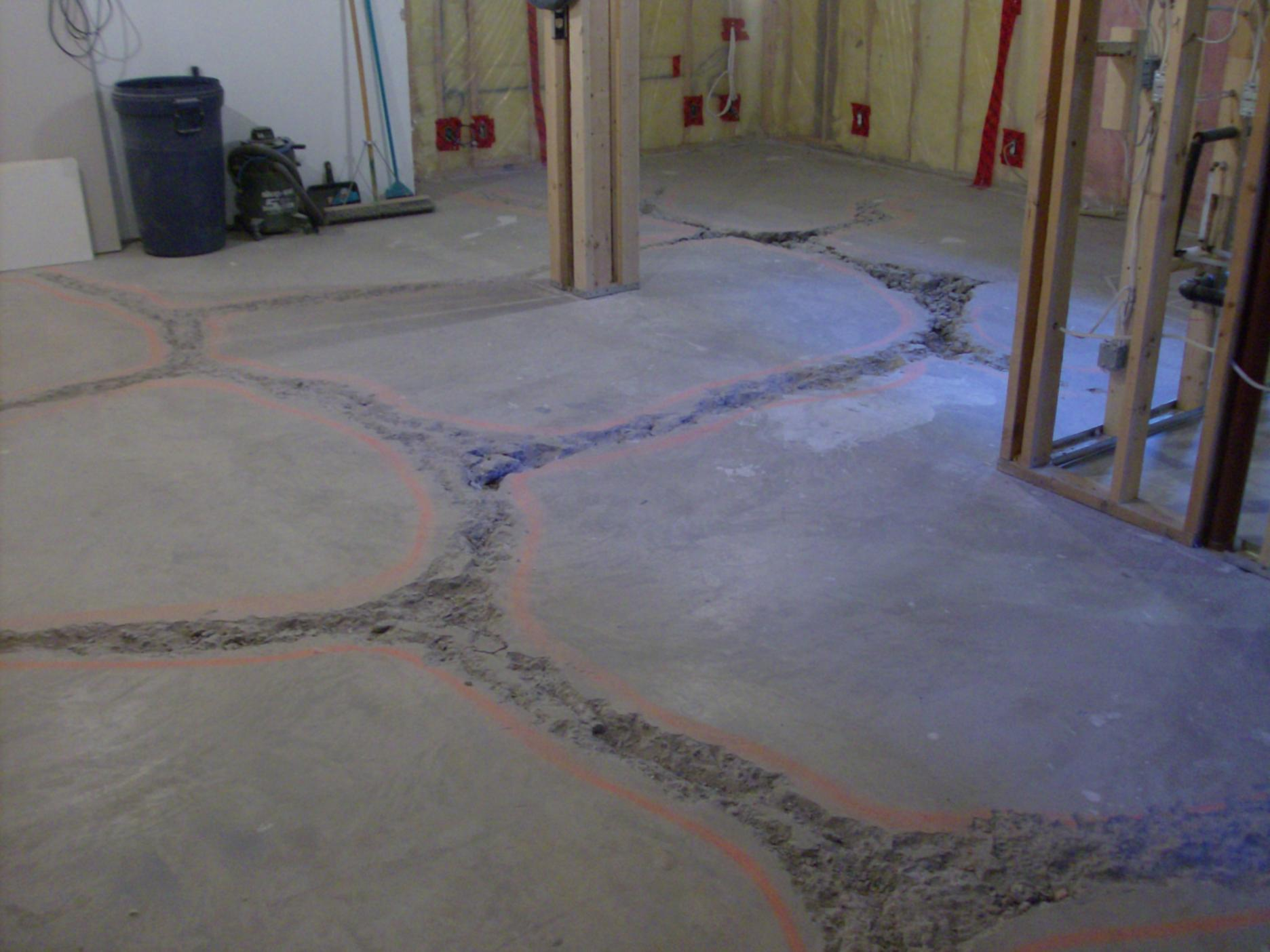 basement floor fill level concrete paving contractor talk
