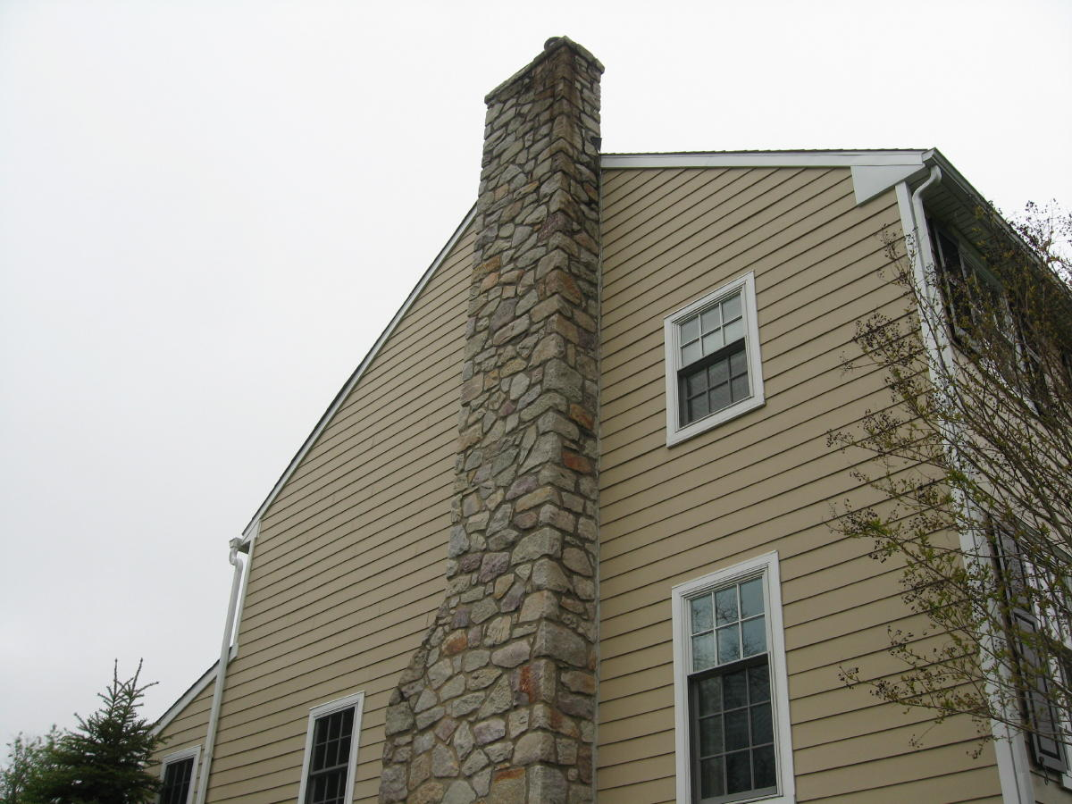 Repointing A Chimney : Stone chimney repoint masonry contractor talk