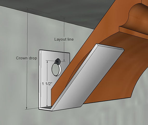tricks on installing crown moulding solo crownbracket jpeg. Tricks On Installing Crown Moulding Solo   Carpentry   Contractor Talk