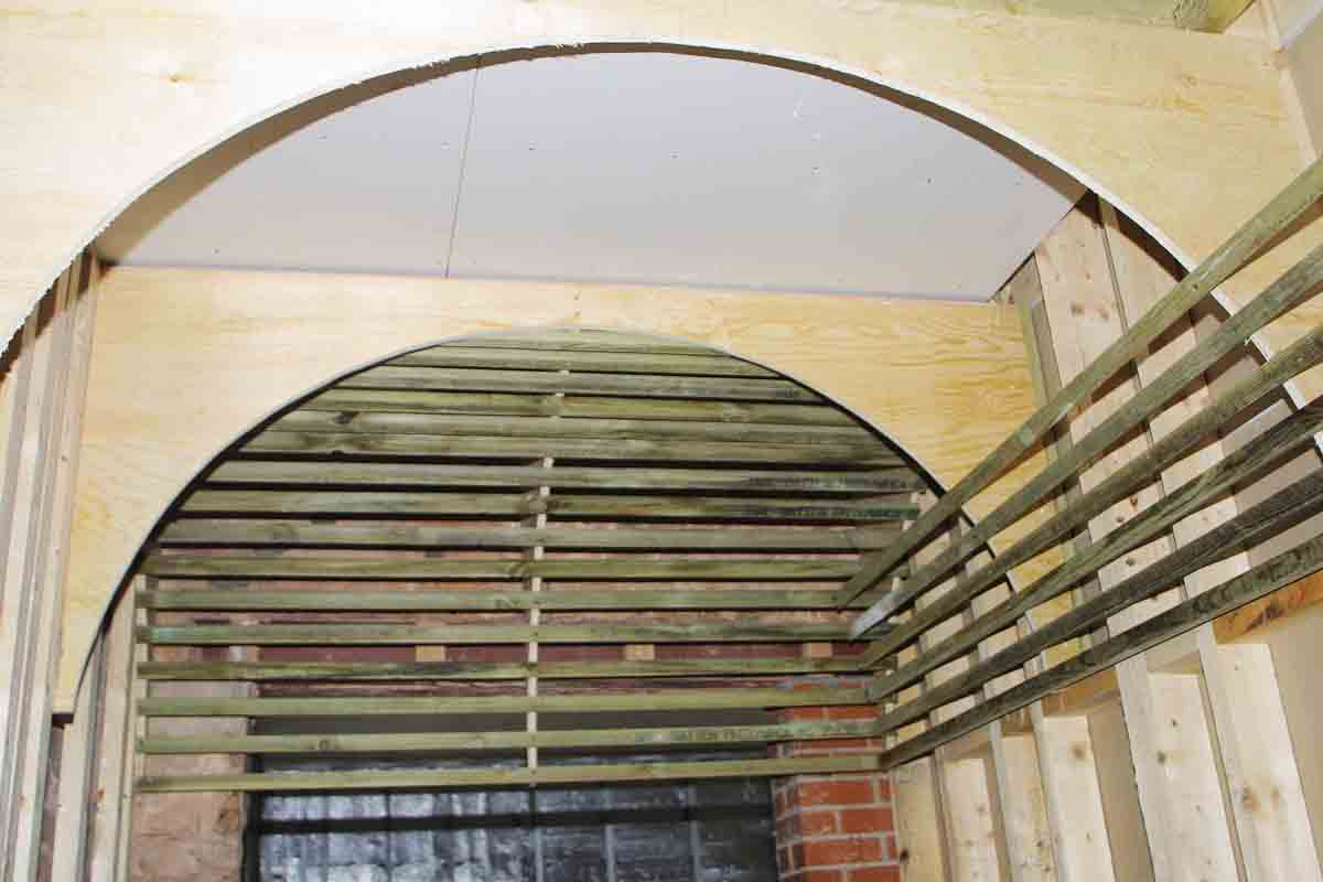 Vaulted ceiling framing ceiling systems for Barrel roof trusses