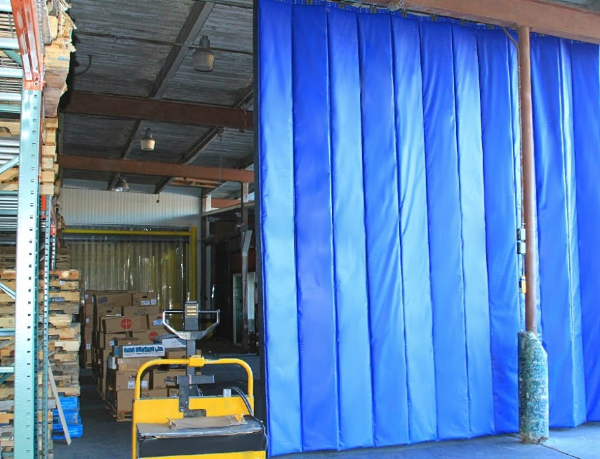 Retractable Industrial Acoustic Curtains Construction