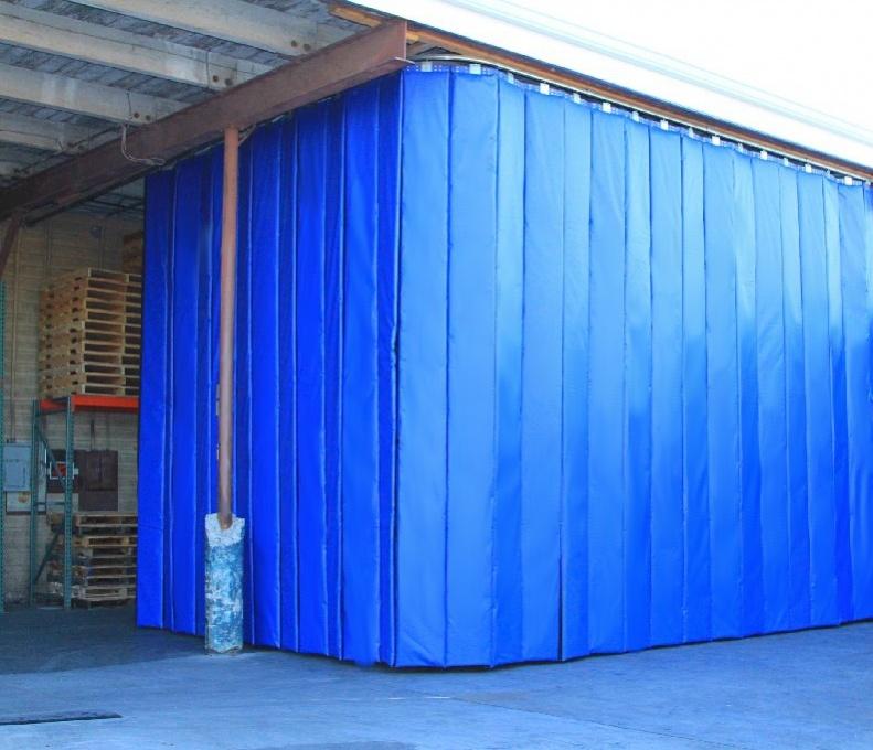 retractable industrial acoustic curtains construction. Black Bedroom Furniture Sets. Home Design Ideas