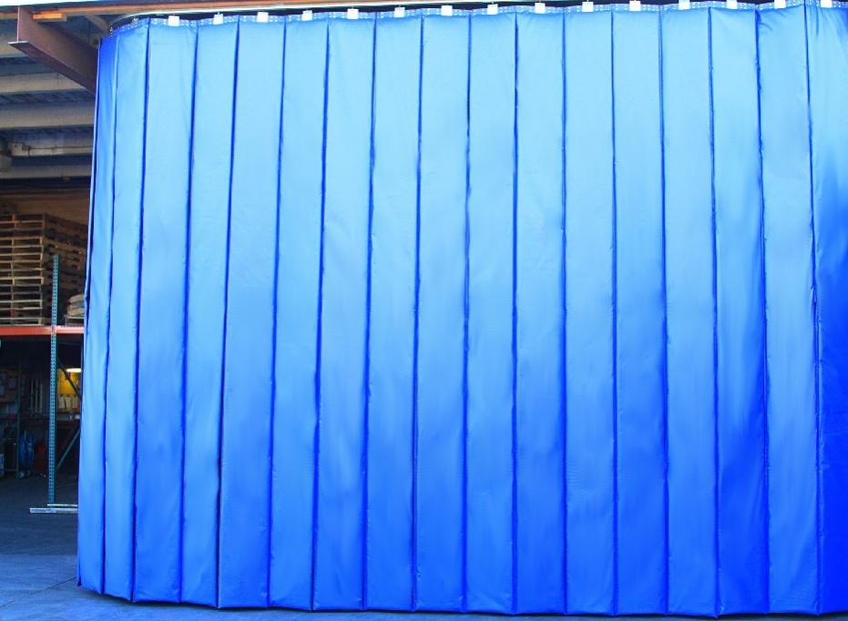Retractable Industrial Acoustic Curtains Curtain 7