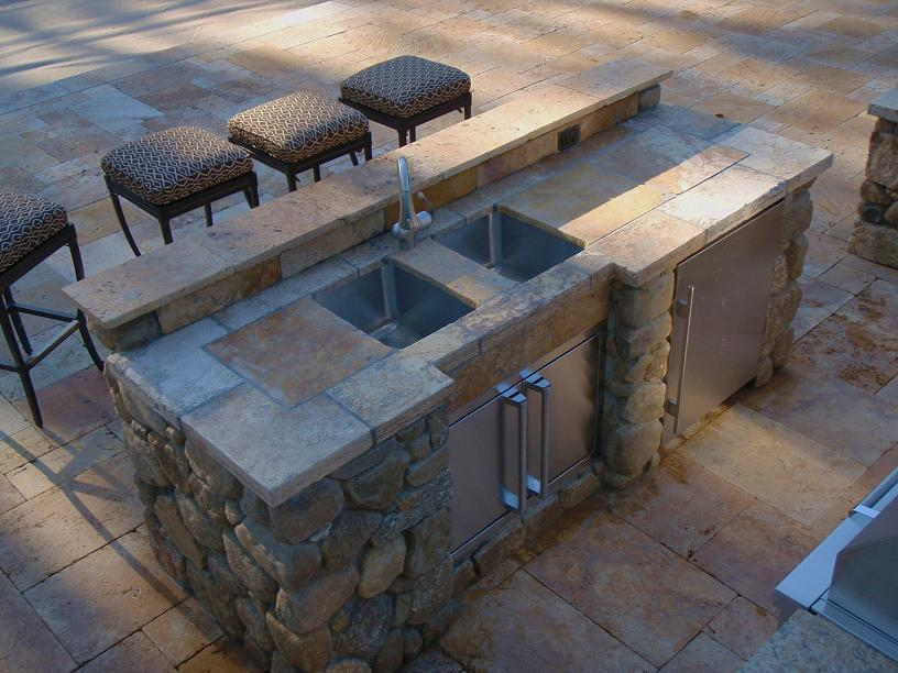 So i finally get to build me an outdoor kitchen patio for Outdoor kitchen counter with sink