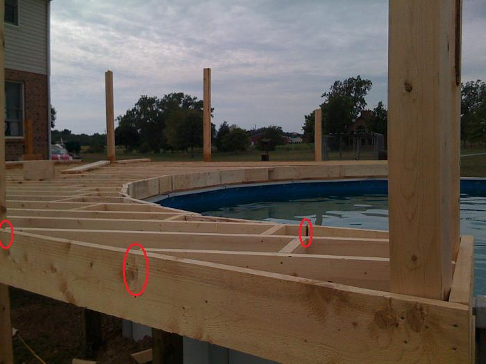 Pool deck 1200 square feet construction picture post for Average square footage of a pool